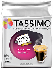 капсулы Tassimo CARTE NOIRE Cafe Long Intense упак.:16капс. (4251495) Tassimo  (16 капсул)