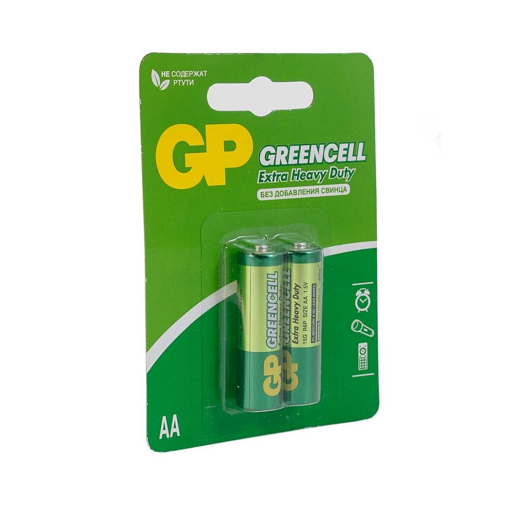 Батарейка GP Greencell R3 (2шт)