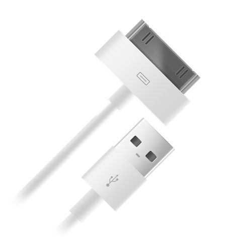 Кабель USB 2.0 BB 30-pin для Apple 004-001 1м белый