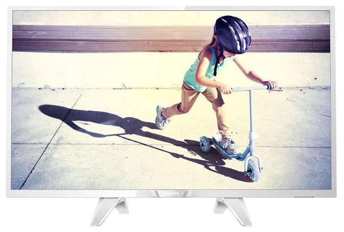 "Телевизор LED 32"" PHILIPS 32PHS4032/60 white - белый"