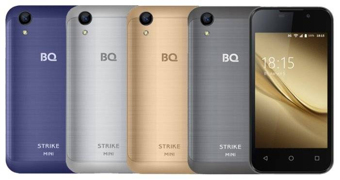 Смартфон BQ 4072 Strike Mini black - черный