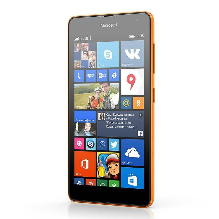 Смартфон MICROSOFT-Lumia 535 DS orange - оранжевый