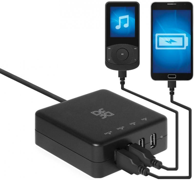 С/ф DF Port-Charger-01 (4*USB) (USB разветвитель)