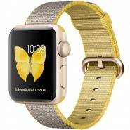 Смарт-часы Apple Watch Series 2 38mm Gold Aluminium Case with Yellow/Light Grey Woven Nylon Band