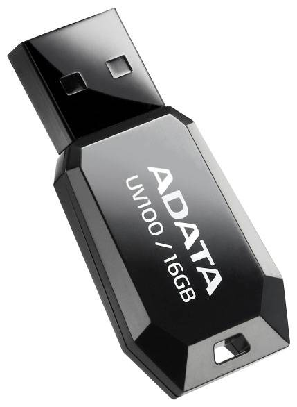 USB Flash 16Gb A-DATA UV100 черный