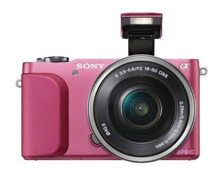 SONY ILCE A5000LP 16-50mm pink - розовый