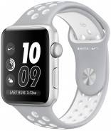 Смарт-часы Apple Watch Nike Plus, 42mm Silver Aluminium Case with Flat Silver/Volt Nike Sport Band