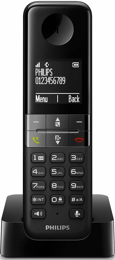 Телефон DECT PHILIPS D4501B/51 black - черный