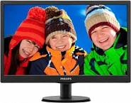 "Монитор 18,5"" PHILIPS 193V5LSB2 черный"